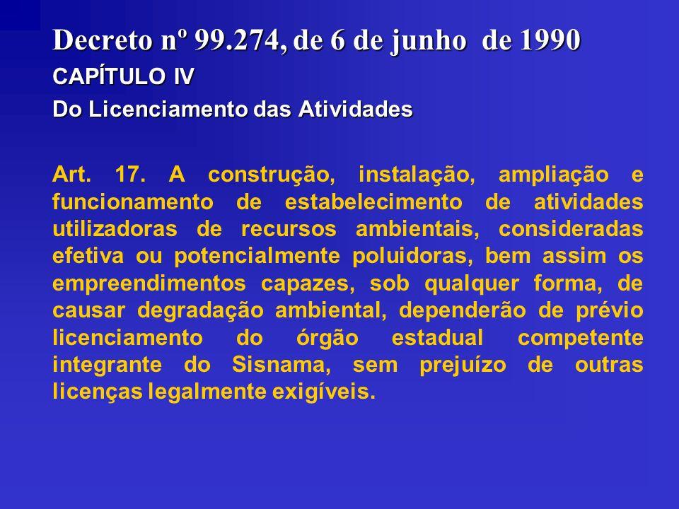 Decreto nº 99.274, de 6 de junho de 1990
