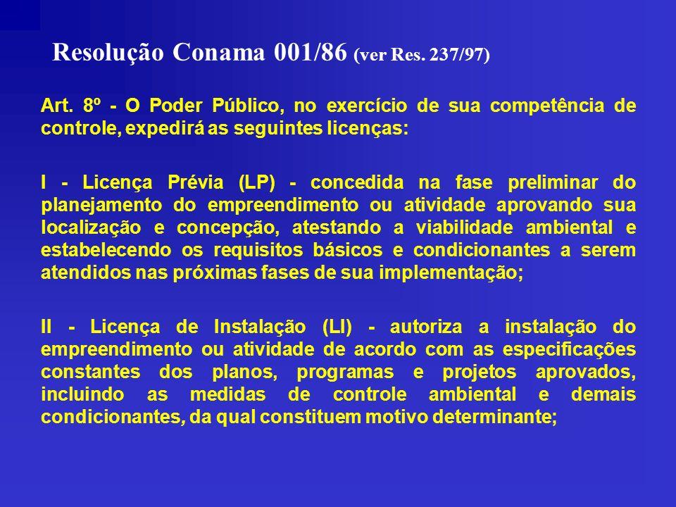 Resolução Conama 001/86 (ver Res. 237/97)