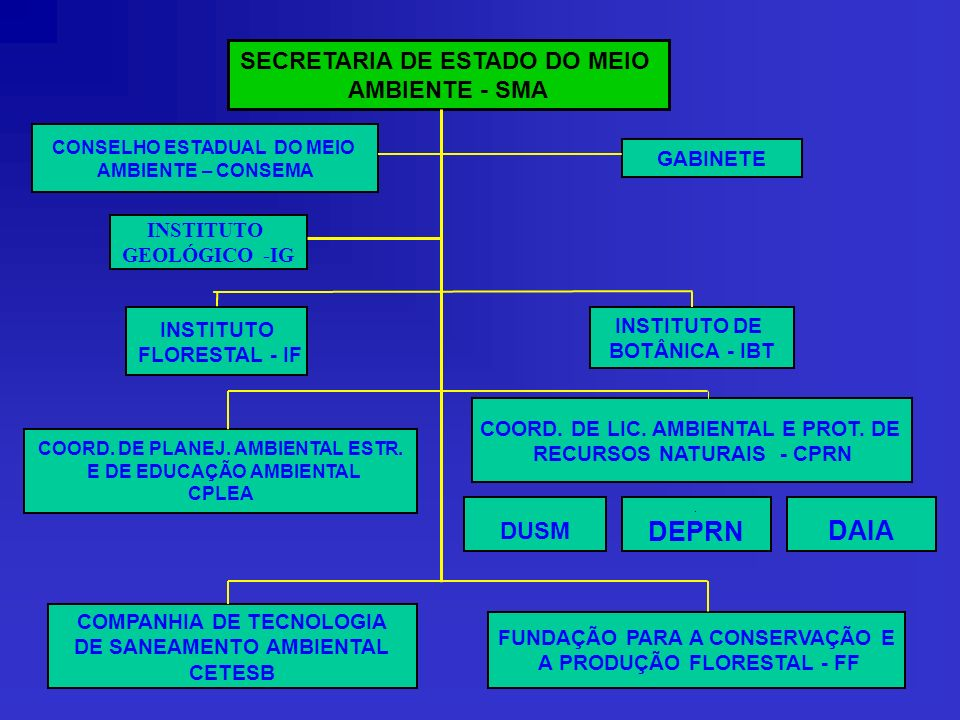 DEPRN DAIA SECRETARIA DE ESTADO DO MEIO AMBIENTE - SMA DUSM GABINETE