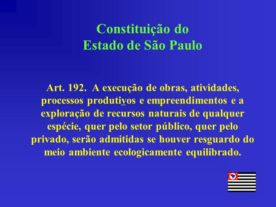 Constituição do Estado de São Paulo Art. 192