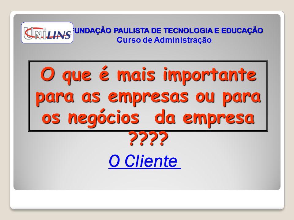 FUNDAÇÃO PAULISTA DE TECNOLOGIA E EDUCAÇÃO Curso de Administração
