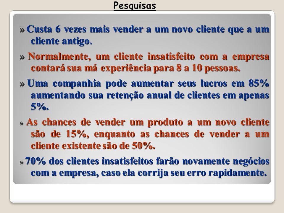 » Custa 6 vezes mais vender a um novo cliente que a um cliente antigo.