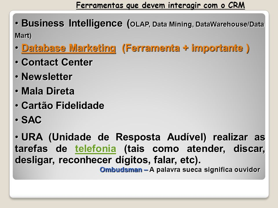 Business Intelligence (OLAP, Data Mining, DataWarehouse/Data Mart)