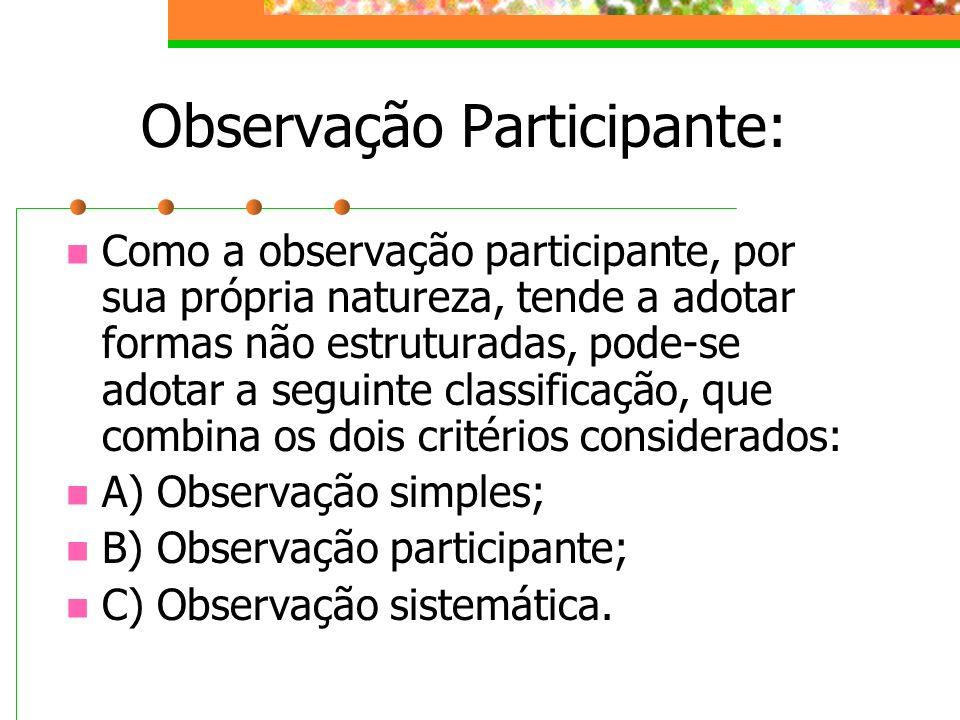 Observação Participante: