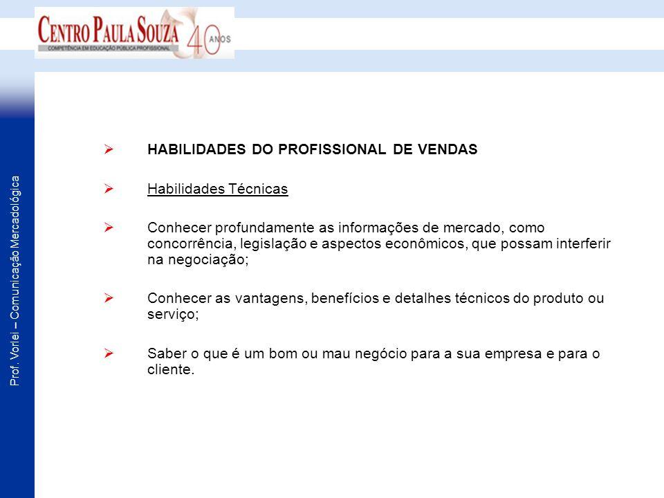 HABILIDADES DO PROFISSIONAL DE VENDAS