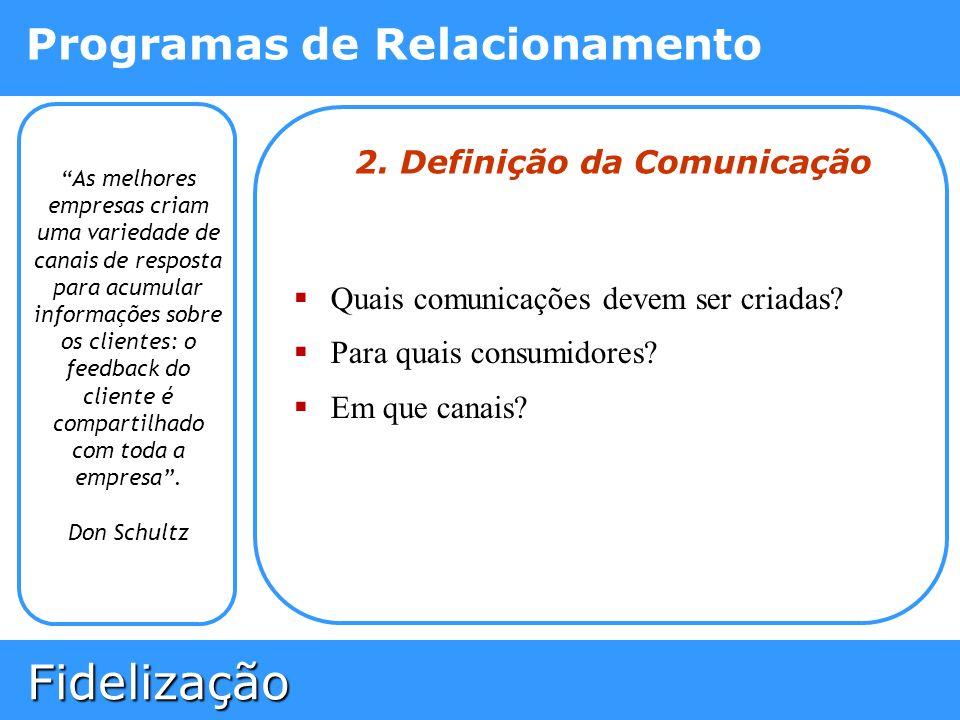 2. Definição da Comunicação