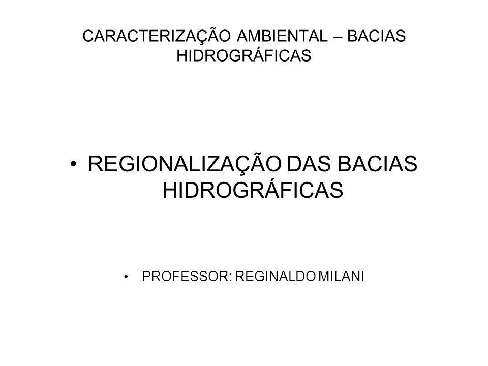 CARACTERIZAÇÃO AMBIENTAL – BACIAS HIDROGRÁFICAS