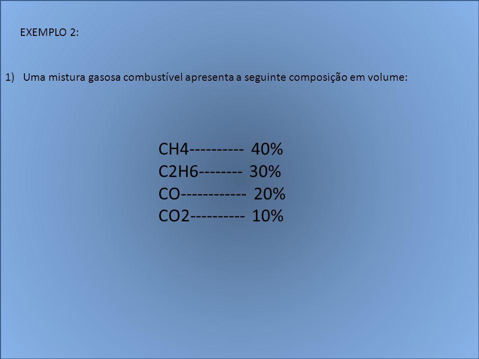 CH4---------- 40% C2H6-------- 30% CO------------ 20%