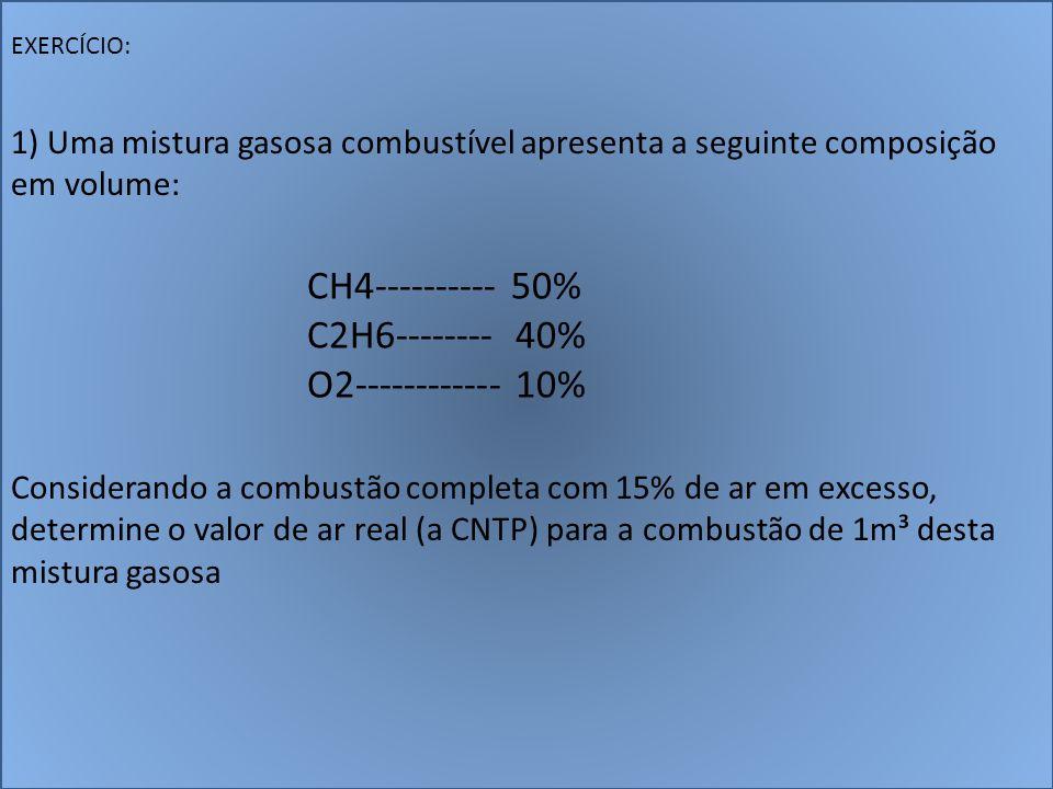 CH4---------- 50% C2H6-------- 40% O2------------ 10%