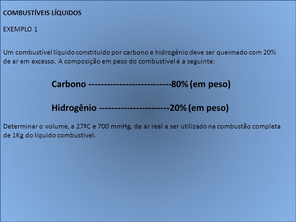 Carbono ---------------------------80% (em peso)