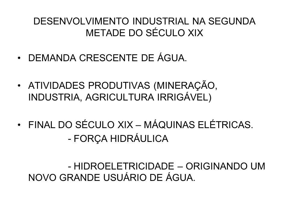 DESENVOLVIMENTO INDUSTRIAL NA SEGUNDA METADE DO SÉCULO XIX