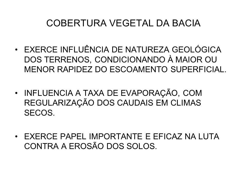 COBERTURA VEGETAL DA BACIA