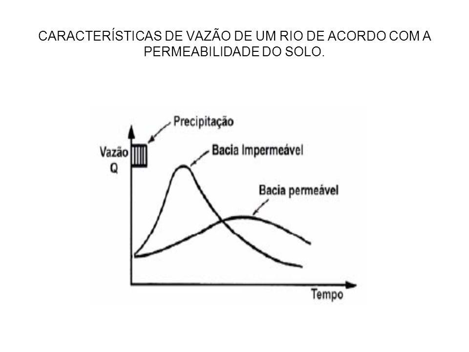 CARACTERÍSTICAS DE VAZÃO DE UM RIO DE ACORDO COM A PERMEABILIDADE DO SOLO.