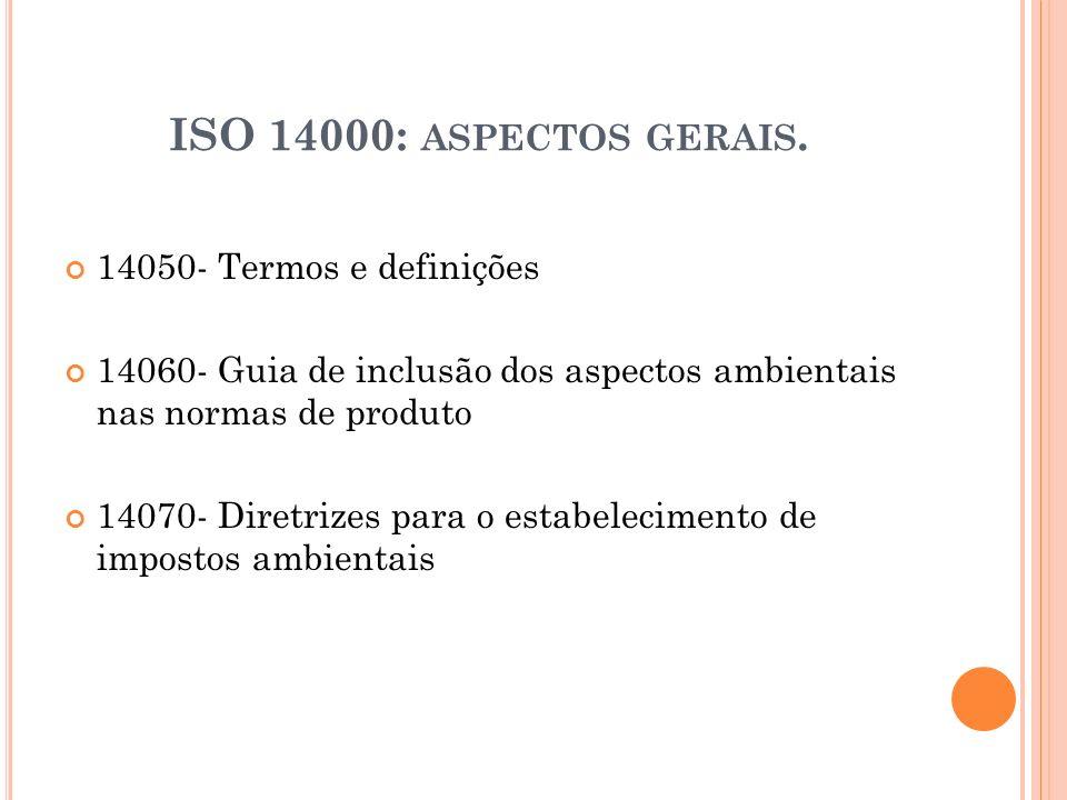 ISO 14000: aspectos gerais. 14050- Termos e definições