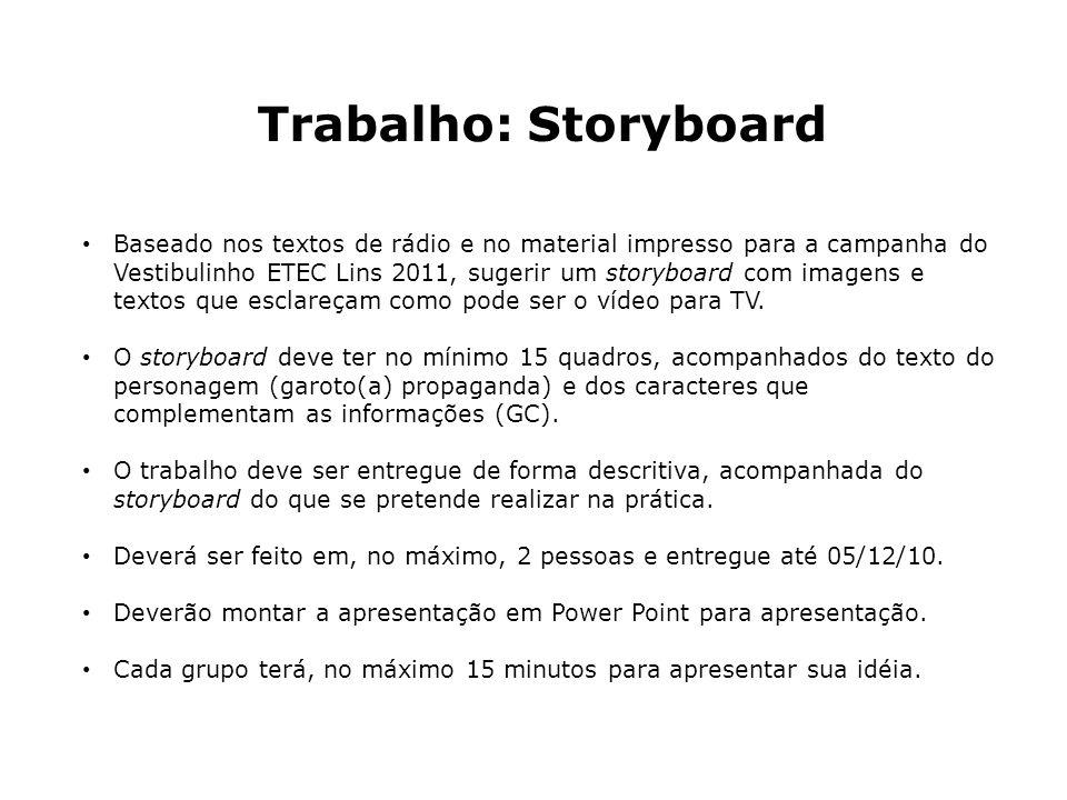 Trabalho: Storyboard