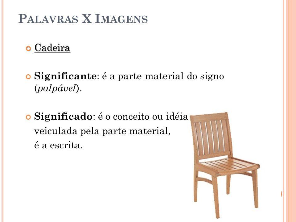 Palavras X Imagens Cadeira