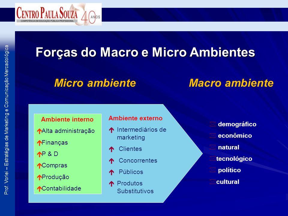 Forças do Macro e Micro Ambientes