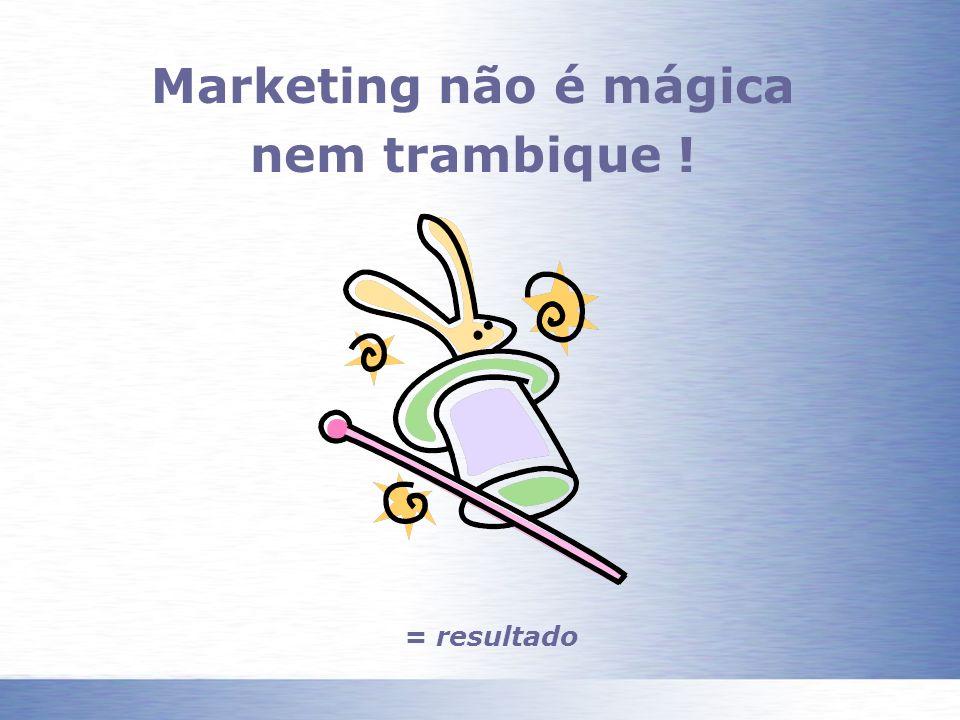 Marketing não é mágica nem trambique !