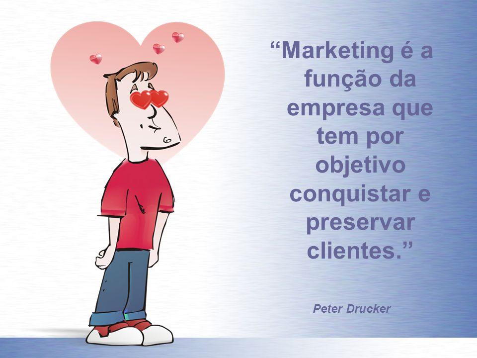 Marketing é a função da empresa que tem por objetivo conquistar e preservar clientes.