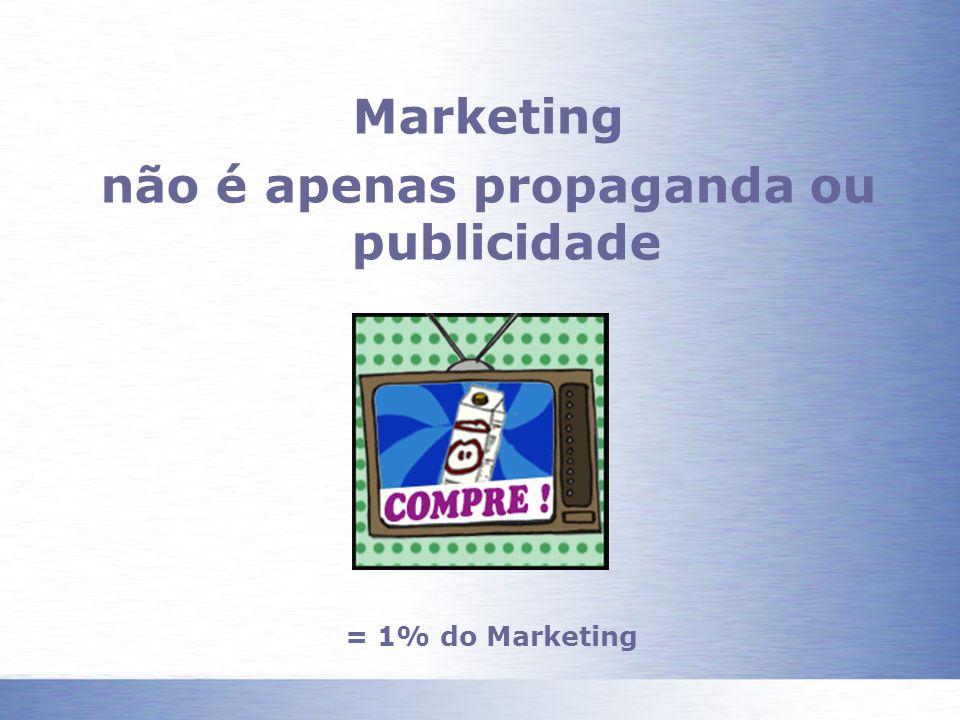 não é apenas propaganda ou publicidade