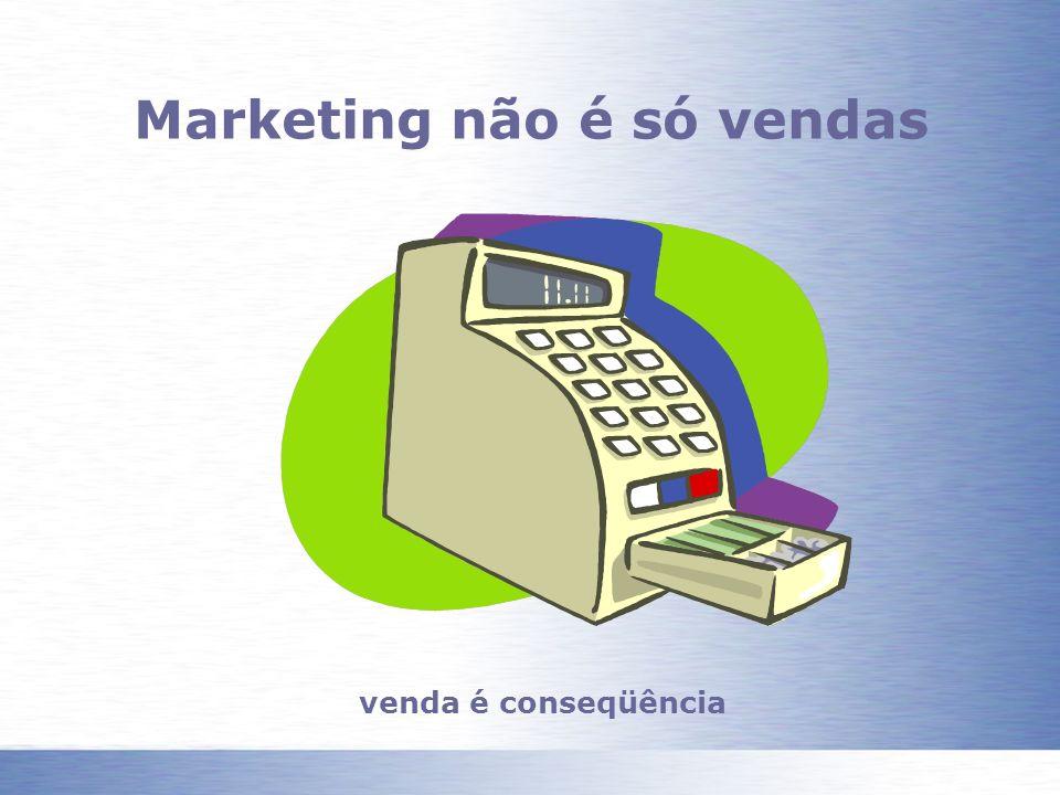 Marketing não é só vendas