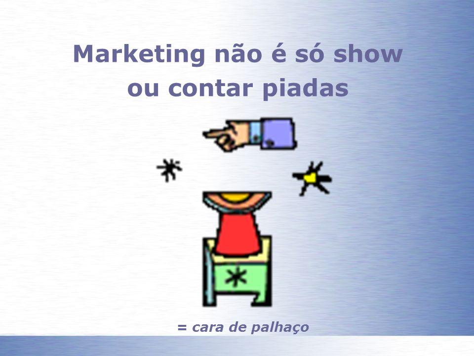 Marketing não é só show ou contar piadas