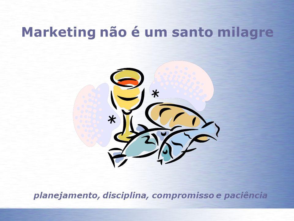 Marketing não é um santo milagre