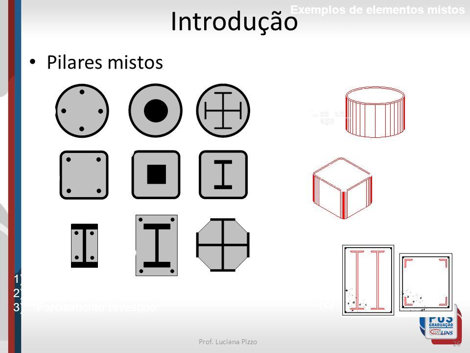 Introdução Pilares mistos (1) (1)* (1) (1) (3) (2) (2)