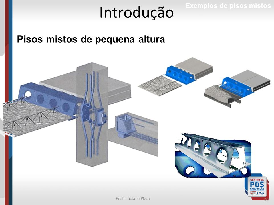 Introdução Pisos mistos de pequena altura Exemplos de pisos mistos