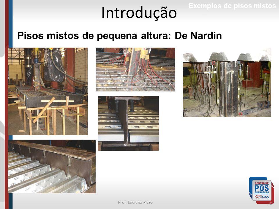 Introdução Pisos mistos de pequena altura: De Nardin