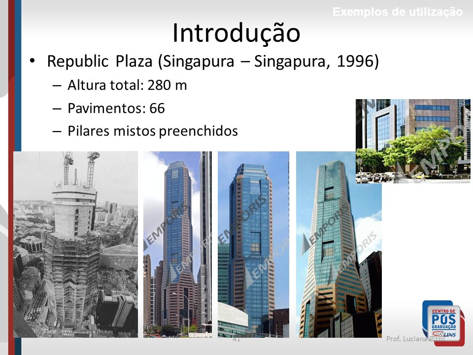 Introdução Republic Plaza (Singapura – Singapura, 1996)