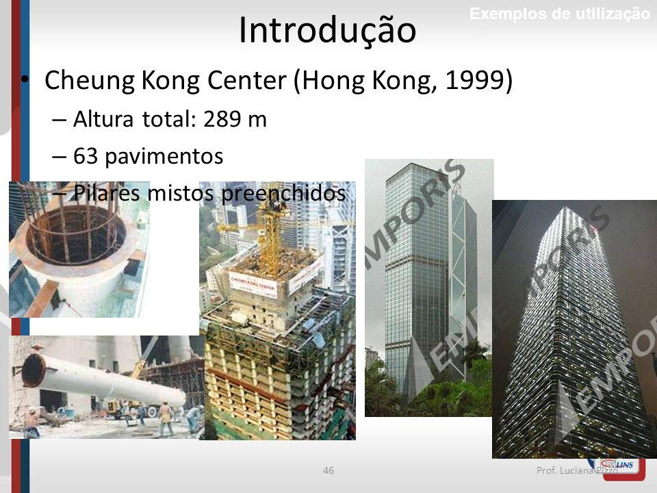 Introdução Cheung Kong Center (Hong Kong, 1999) Altura total: 289 m