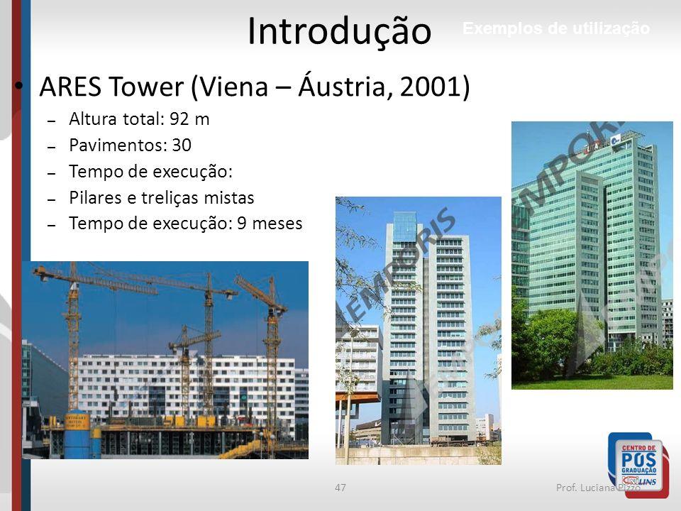 Introdução ARES Tower (Viena – Áustria, 2001) Altura total: 92 m