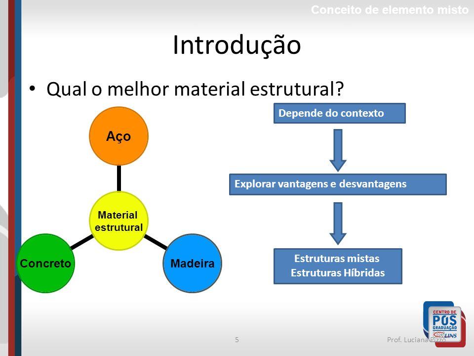 Introdução Qual o melhor material estrutural