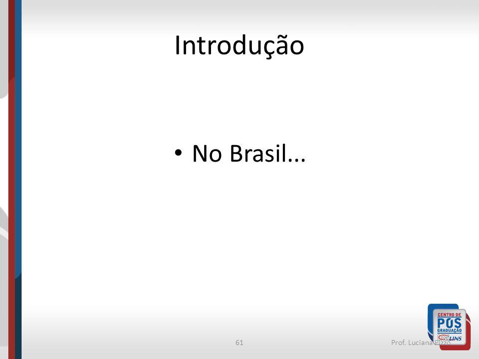 Introdução No Brasil... Prof. Luciana Pizzo
