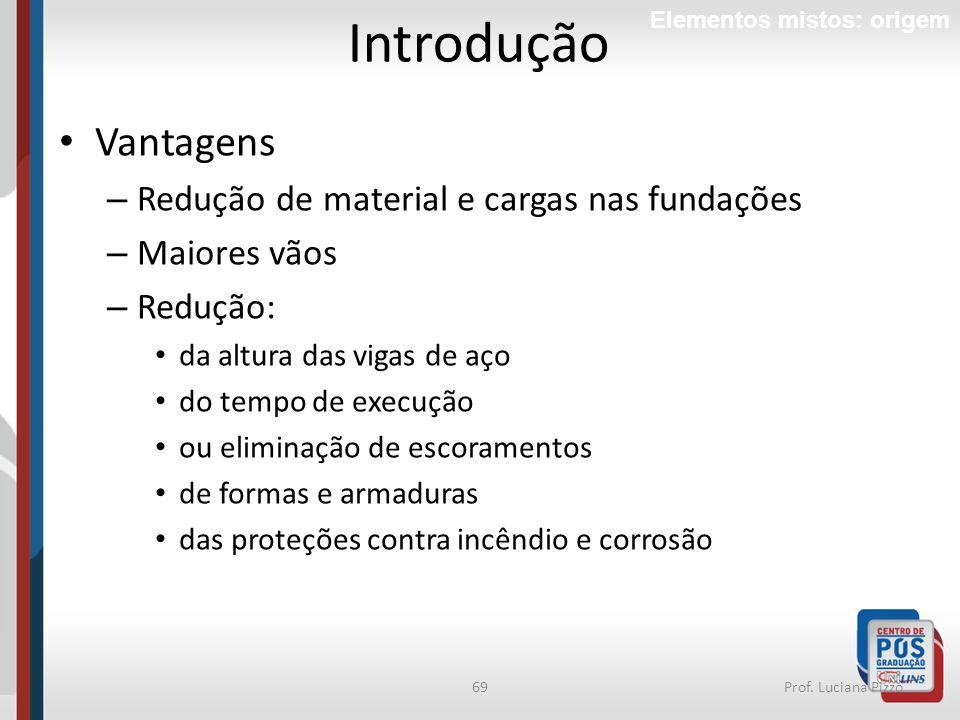 Introdução Vantagens Redução de material e cargas nas fundações