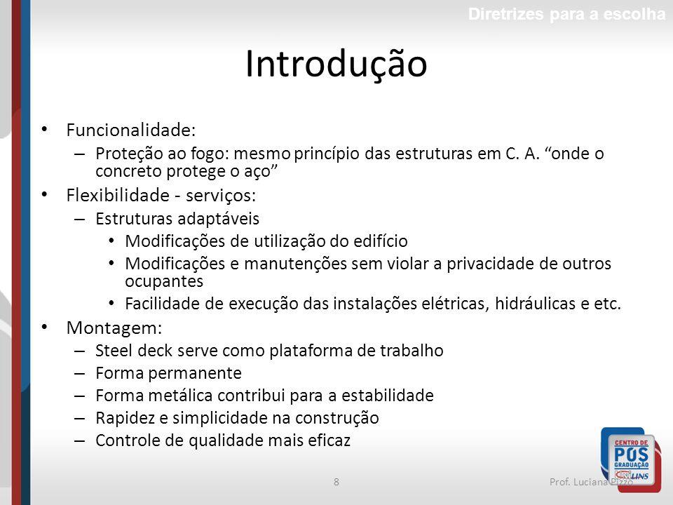 Introdução Funcionalidade: Flexibilidade - serviços: Montagem: