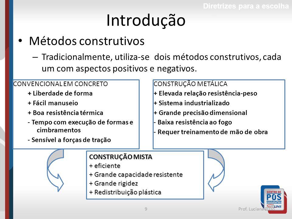 Introdução Métodos construtivos