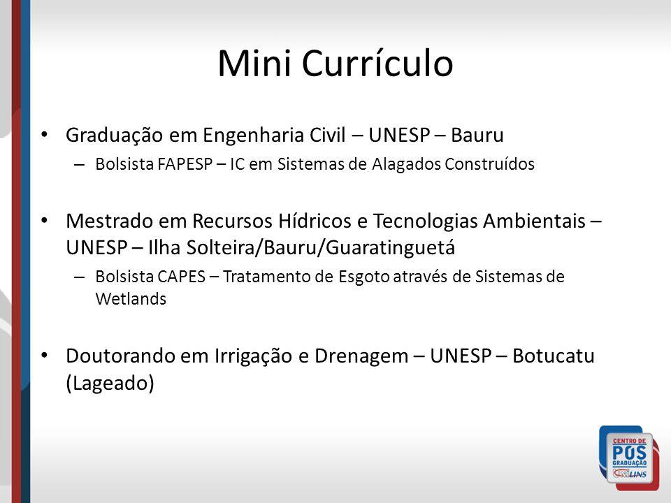 Mini Currículo Graduação em Engenharia Civil – UNESP – Bauru