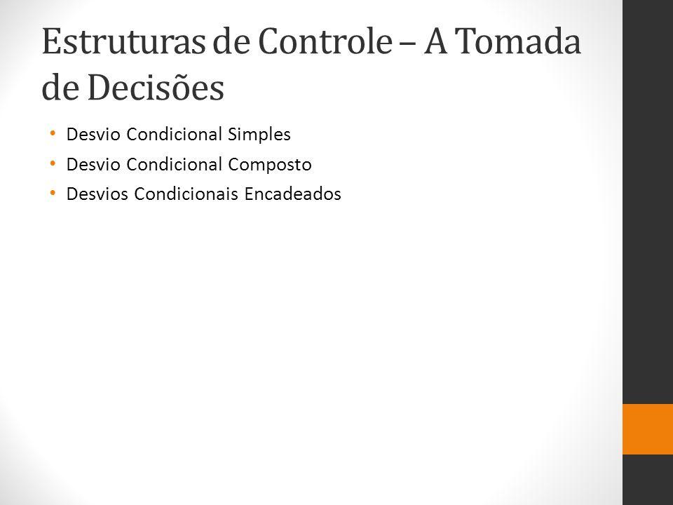 Estruturas de Controle – A Tomada de Decisões