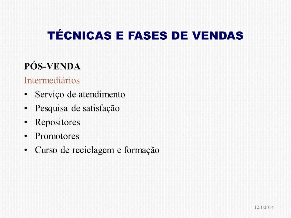 TÉCNICAS E FASES DE VENDAS
