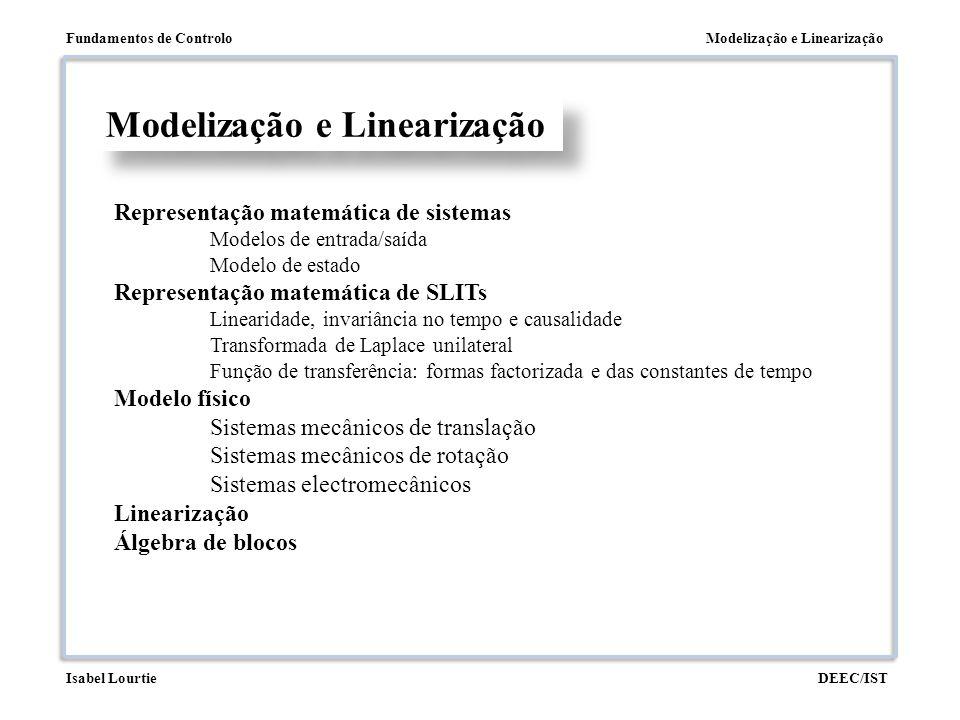 Modelização e Linearização