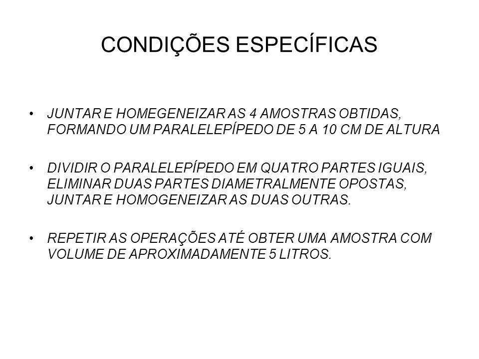 CONDIÇÕES ESPECÍFICAS