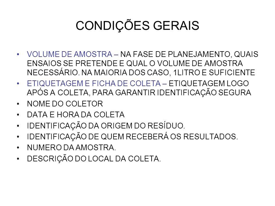 CONDIÇÕES GERAIS