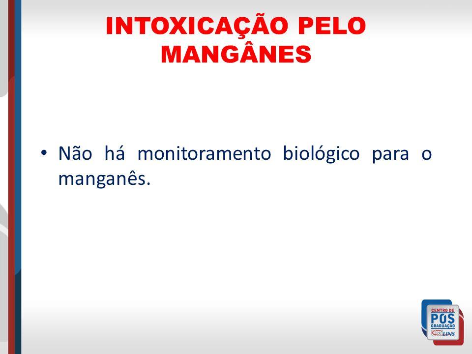 INTOXICAÇÃO PELO MANGÂNES