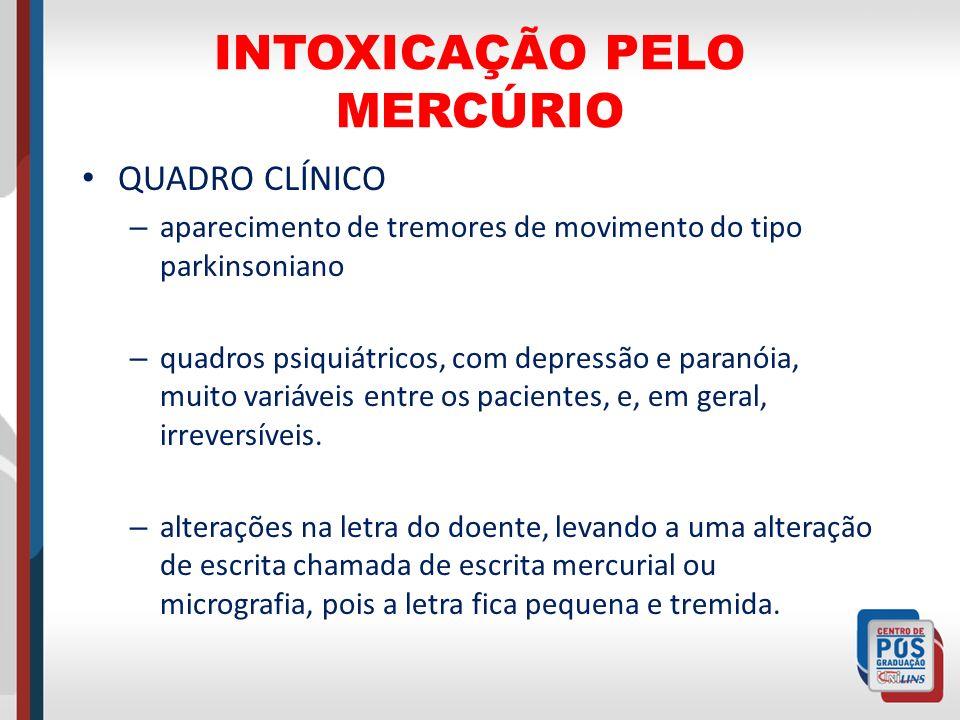 INTOXICAÇÃO PELO MERCÚRIO