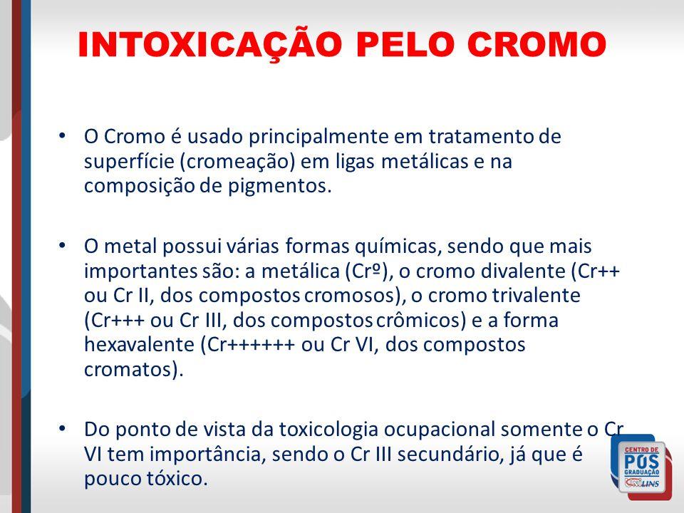INTOXICAÇÃO PELO CROMO