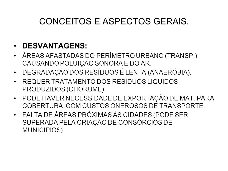 CONCEITOS E ASPECTOS GERAIS.