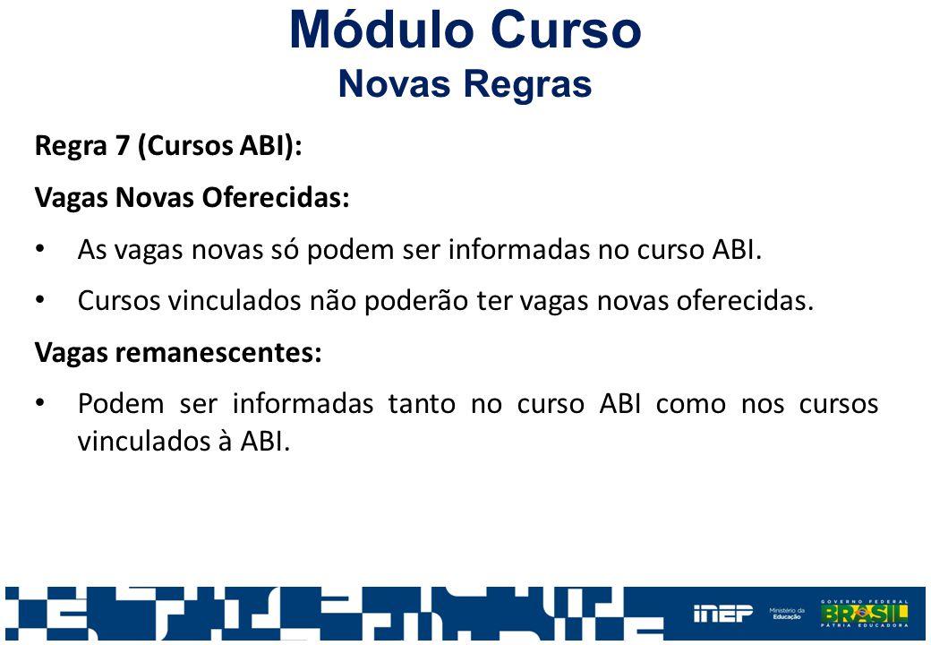 Módulo Curso Novas Regras Regra 7 (Cursos ABI):