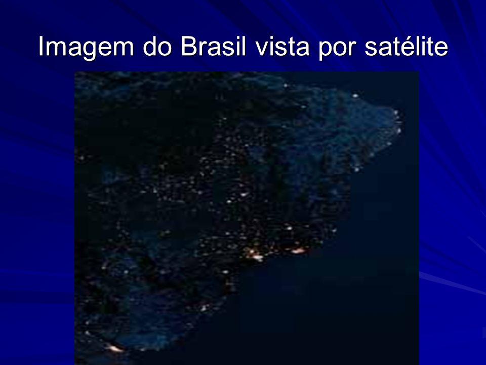 Imagem do Brasil vista por satélite